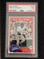 1981 Topps - Reggie Jackson AS #400 - PSA 7 - New York Yankees