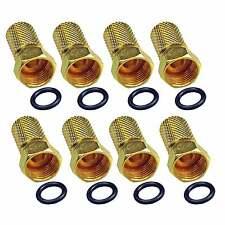Stecker 5mm DIGITAL für Sat Koax Kabel Koaxialkabel 8 Stück mit Gummiring F