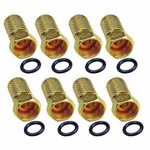 F- Stecker 5mm DIGITAL für Sat Koax Kabel Koaxialkabel 8 Stück mit Gummiring