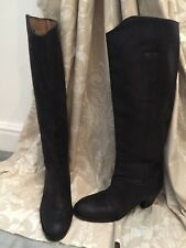 Acne Studios Black Pistol Tall Full Leather Boots Size 39/6