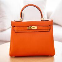 25/28/32CM Kelly bag purse Togo Real leather KL style Gift Handbag Shoulder Bags