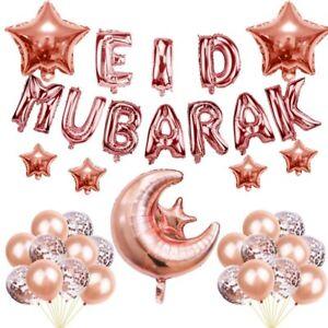37Pcs Balloon Set Eid MUBARAK Balloons Decor Ramadan Banner Balloon Decor