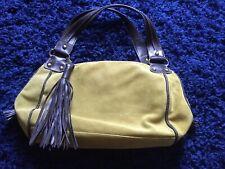 Abro Khaki Suede Bag Brand New