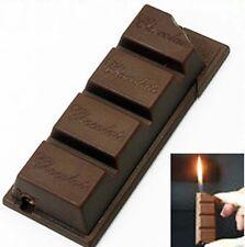 Novelty Chocolate Style Cigarette Cigar Smoking Pipe Butane Gas Lighter Gift