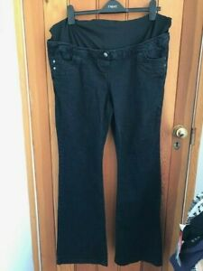 south washed black overbump maternity jeans 16 long flare bnwt