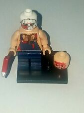 LEGO JASON WITH AXE AND BLOODY HEAD