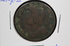 1735 Halfpenny Great Britain - George II - Spink# 3717