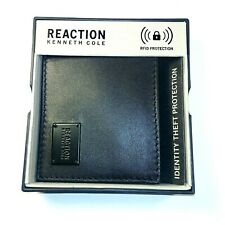 Reaction Kenneth Cole - Genuine Leather Bifold Passcase Wallet - Black - RFID