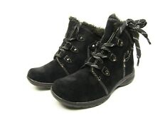 Earth Origins Cooper Suede Water Resistant Ankle Boots Black Size 11M