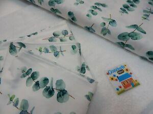 Burp Cloths Eucalyptus Leaves x 3 Toweling Backed 100% Cotton GREAT GIFT IDEA!!