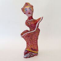 """MARIA MURGIA  """"La modella"""" - scultura in terracotta dipInta a mano + Archivio"""