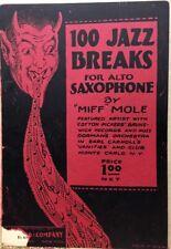 1926~MIFF MOLE~Vintage 100 JAZZ Breaks~Alto Saxophone~Devil Spewing Music Cover