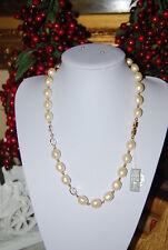 Pearls & Swarovski Crystal Necklace Superb Runway Vintage Givenchy Faux Baroque