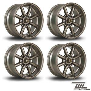 "4 x White Label Vintage Bronze 15"" x 8"" 4x100 et0 alloys fits Mazda Mx5 Civic"