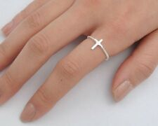 USA Seller Tiny Cross Ring Sterling Silver 925 Plain Best Deal Jewelry Size 10