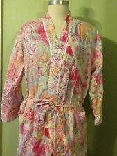 Vintage 2 Piece Ralph Lauren Robe&Spaghetti Night Gown Paisley Soft 100% Cotton