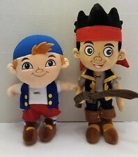 "Disney Store Jake and the Neverland Pirates Plush Lot Jake & Cubby 12"" Plush  P1"