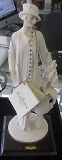 Armani Figurine Statue Sculpture Lady w/ basket of flowers