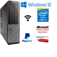 Dell Optiplex 7010 DT Computer i5 Quad Core CPU 8GB RAM 240GB SSD Windows 10