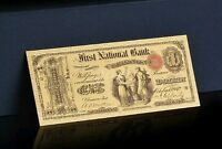 """<UNC.GEM>1878 SERIES """"GOLD DOLLAR"""" 1ST NATIONAL BANK Rep.* Banknote~GREAT DETAIL"""