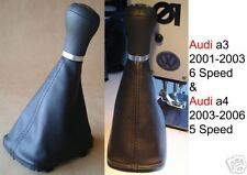 Audi a3 & a4 Leather Gearstick Gaiter 5 speed & 6 Speed