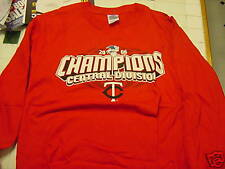 SWEET Minnesota Twins '06 Div Champs Long Sleeve Red Youth Lg T-Shirt, NEW&NICE