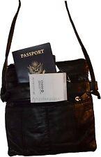New black small handbag leather shoulder bag swing pouch passport bag Brand NWT*