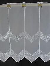 m/€10,00 Scheibengardine Gardine Bistrogardine 261910 44 cm hoch weiß bestickt