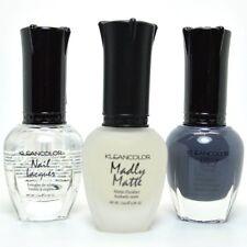 3pc Kleancolor Nail Polish Top Coat, Madly Matte Clear,Concrete Gray Set Lacquer