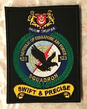 Singapore Armed Forces Air Force RSAF Badge 123 SQUADRON Insignia Sign Patch