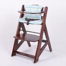 Chaise Haute en bois Ajustable Chaise bébé Escalier chaise haute BRUN
