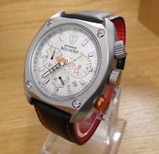 Mens Italian Detomaso Bolsena Silver Chrono Watch Seiko MovT SL1552CCH BNiB
