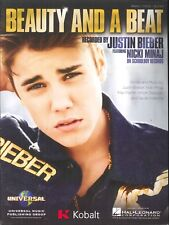 Beauty & A Beat Piano Guitar Voice Sheet Music 2012 Justin Bieber Nicki Minaj