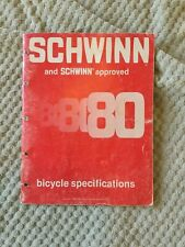 Schwinn 1980 Bicycle Specifications Manual