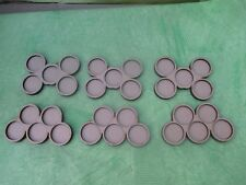 6 Skirmish Movement Trays 5x25mm Round Bases Wargames Cloud Olympic Ring Design