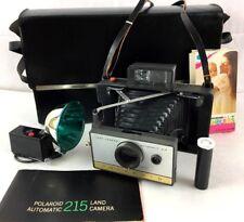 Vintage Polaroid Land Camera 215 Automatic Flash Case Manual Flashbulb Gel Stick
