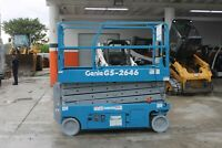2012 Genie GS 2646 26' Electric Scissor Lift Aerial Platform - SUPER CLEAN