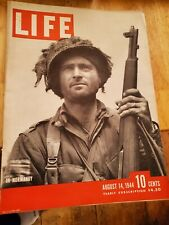 Life Magazine August 14 1944 Normandy Chester Gould Dick Tracy No Label Ww 2