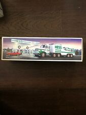 1988 HESS TOY TRUCK and RACER Original Box Transport