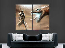 DRAGON WARRIOR FANTASY WEAPONS SWORD WALL POSTER ART PICTURE PRINT LARGE  HUGE
