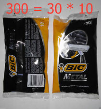 300 Mens Disposable Razors BIC Metal GREECE 10-count (30 Pack) FREE SHIPPING
