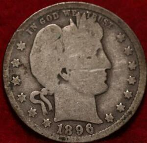 1896-O New Orleans Mint Silver Barber Quarter