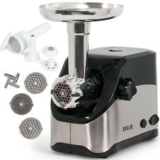 Electric Meat Grinder Kitchen Reversible Sausage Stuffer Kubbe w/ Blade & Plate