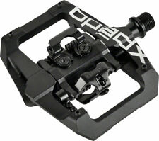 """Xpedo GFX Pedals - Dual Sided Clipless with Platform, Aluminum, 9/16"""", Black"""