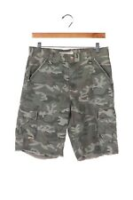 LEVI'S Camo Boy Shorts 12 Husky Green Frayed Hem Camouflage Kids