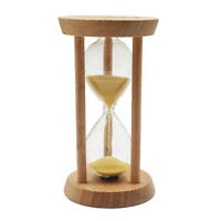 10 Minutes Wood Frame Sand Timer with Yellow Sand Hourglass for Training