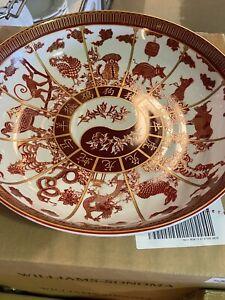 "NEW! Williams-Sonoma Lunar Zodiac Serving Bowl, 12 3/4"" diameter - White/Red"