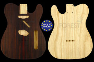 50s tele style electric guitar body indian rosewood top/swamp ash, unique