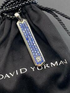 David Yurman Pave Tag with Blue Sapphire