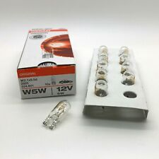 10 x Osram 501 W5W Car Sidelight Side Light Bulb 12v 5w Push Fit 2825 524.801